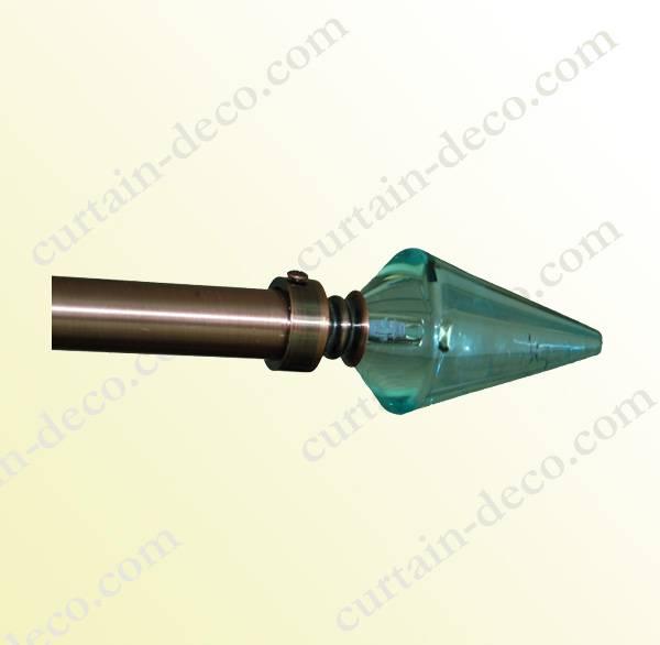 Cone crystal finials