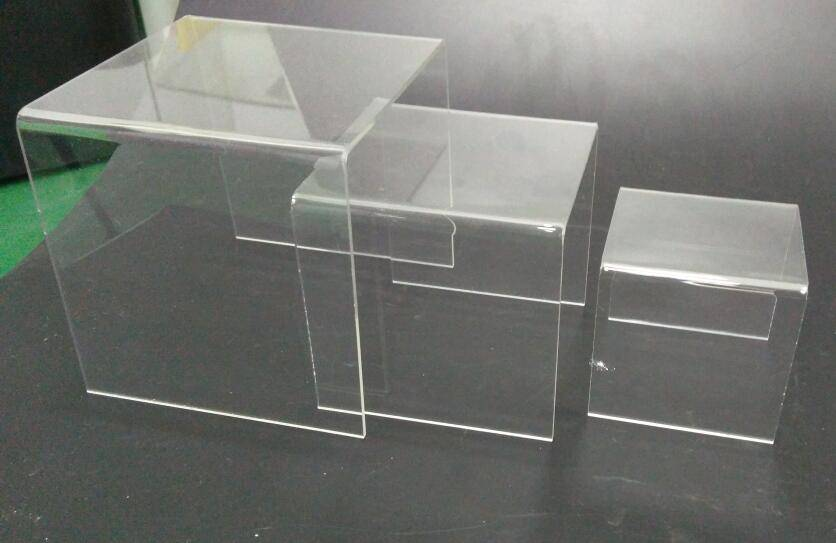 Transparent acrylic jewelry and shoe display stand