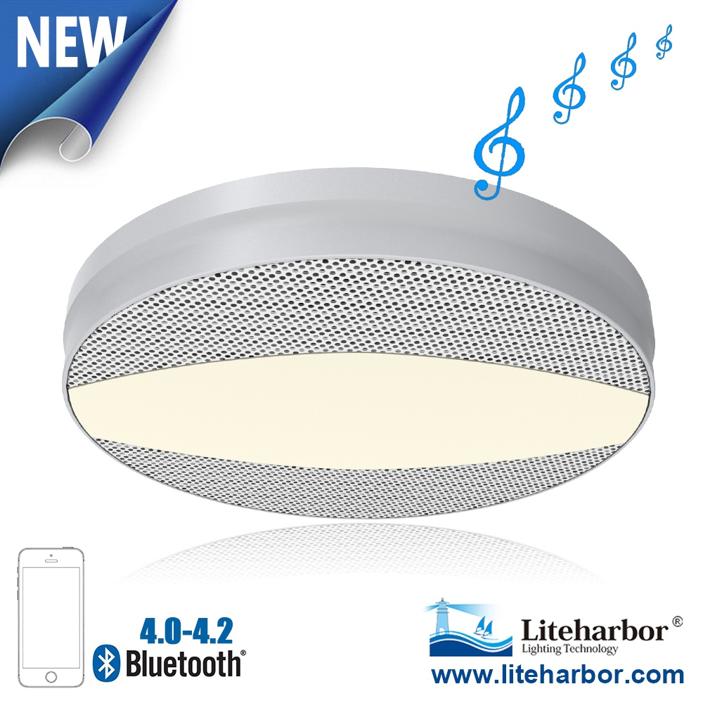 12W Ceiling LED Bluetooth Speaker Light From Liteharbor