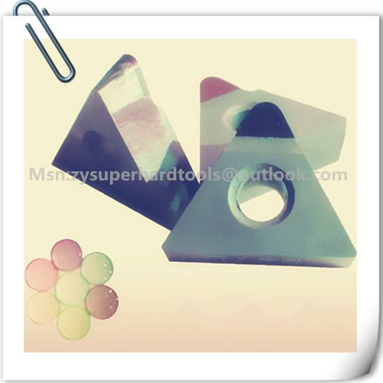PCD lathe inserts for resin material glasses