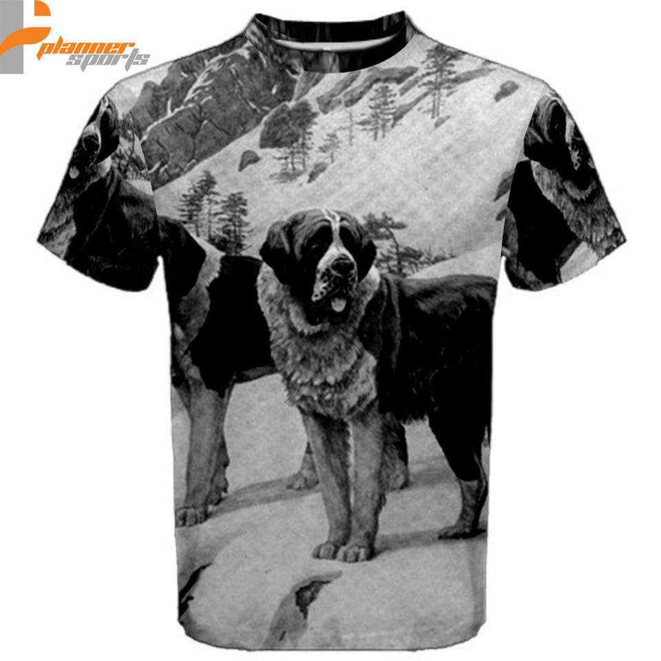 St Bernards Puppy Dogs Sublimated Sublimation T-Shirt S,M,L,XL,2XL,3XL