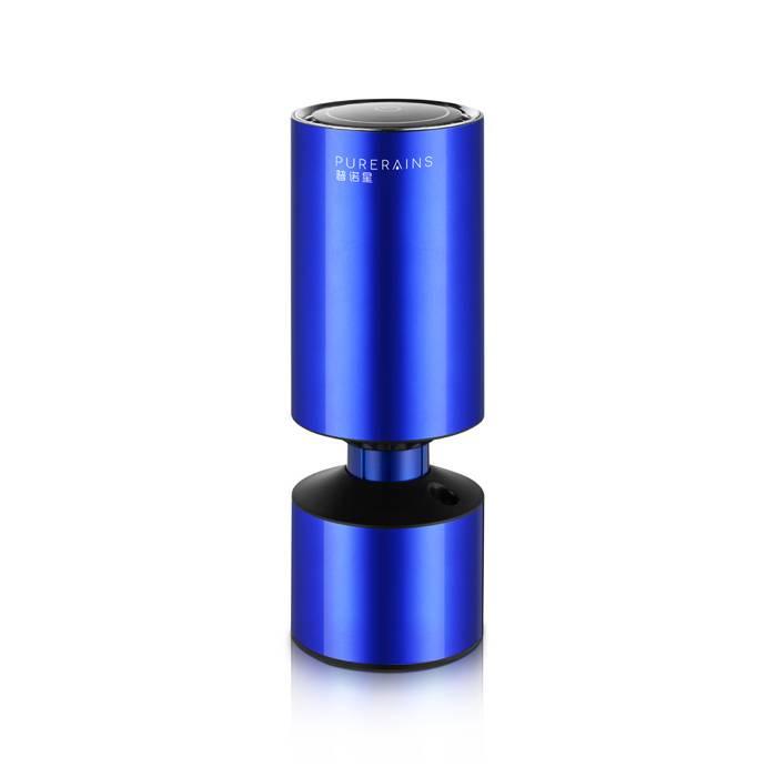 mini portable activated carbon ionic car air purifier