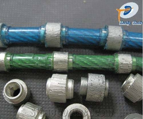diamond wire saw with 40 beads 11.5mm diameter for cutting reinforced concrete rubber sintered
