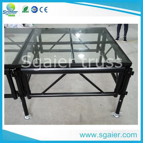 Plexiglass transparent Stage portable type 1.221.22m TUV and CE approved high quality stage