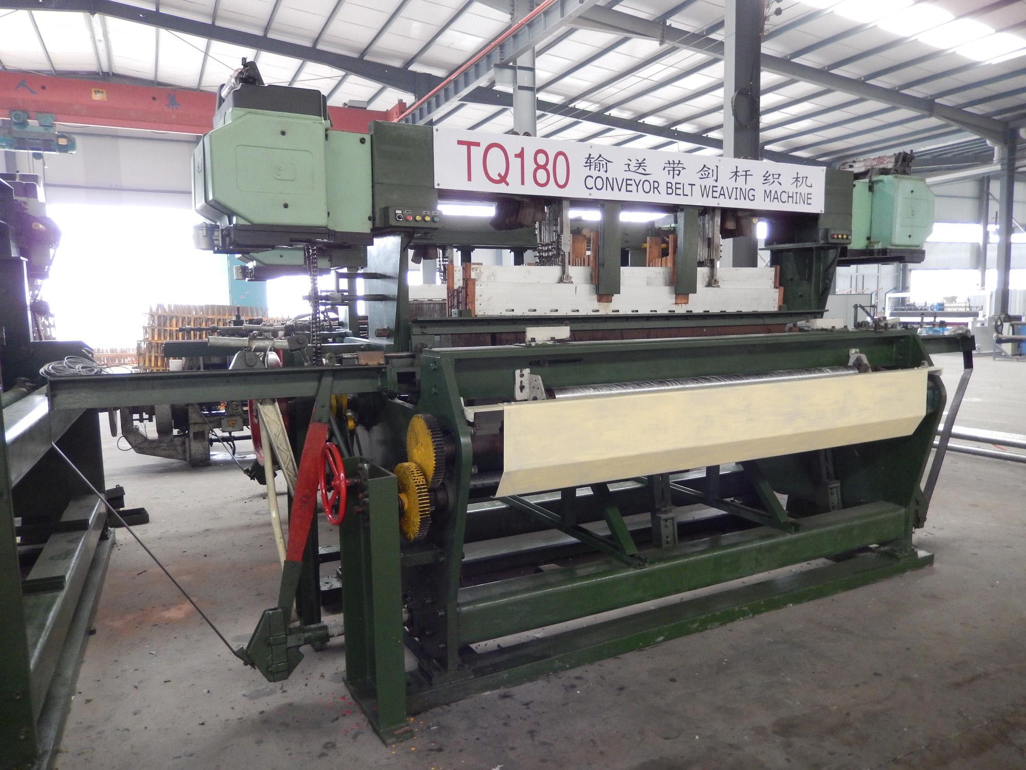 conveyor belt weaving machine