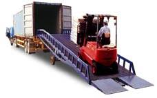 Dock leveler car ramp adjustable container loading ramp
