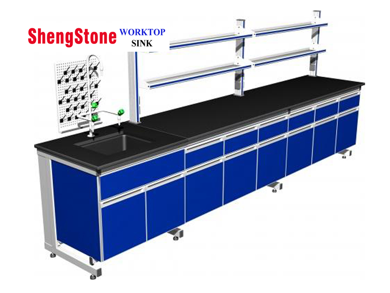 Laboratory steel wood structure workbench-Epoxy resin/Phenolic bench worktop
