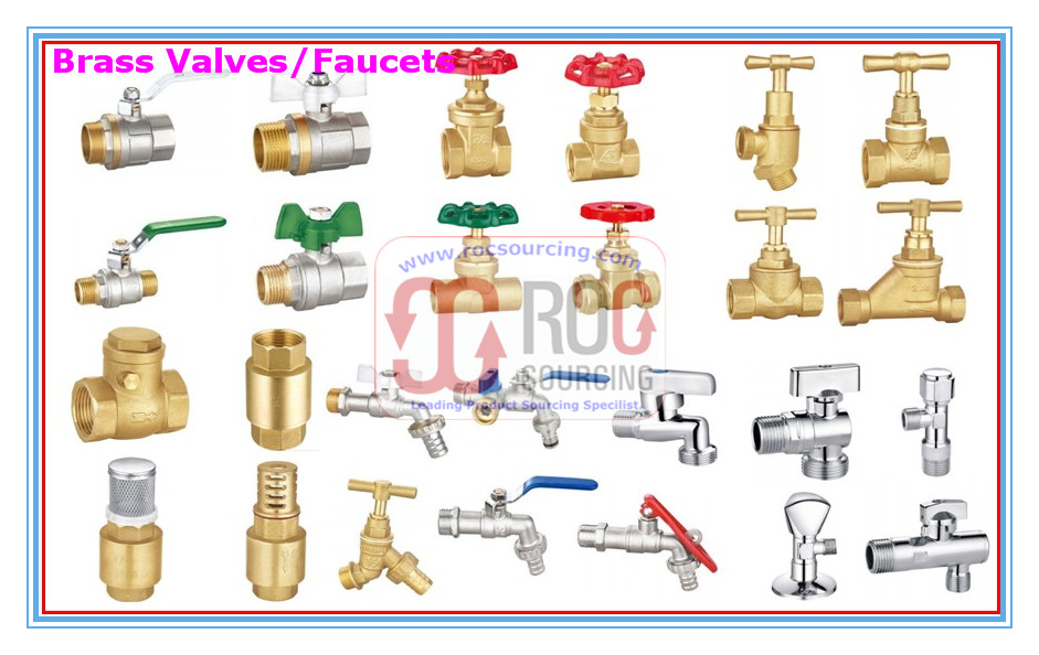 Brass valves Fittings Copper valve Ball valve Gate valve Check valve Float valve