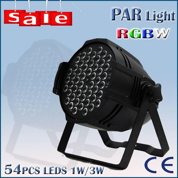 DJ bar stage light 54pcs 3w RGBW LED par 64