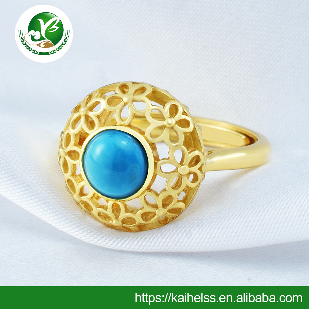 Turquoise gold Ring Supplier Handmade Ring Gemstone Handmade Silver Wedding Ring