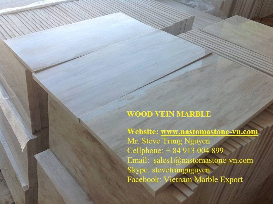 Wood Vein Marble Salbs and Tiles from Nastoma Stone Vietnam