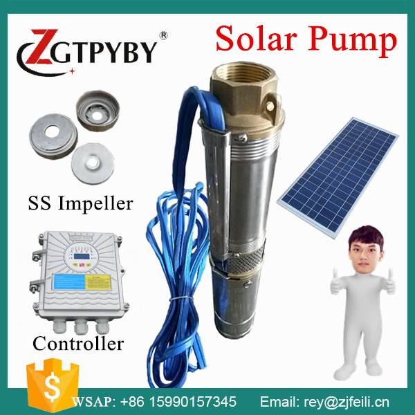 Zhejiang Solar pump manufacturer bomba de agua solar submersible water pump parts dc 48v water pump