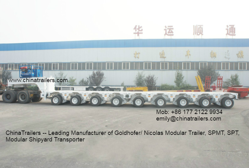 Good Quality Nicolas Type Hydraulic Modular Trailer MDED- WHITE