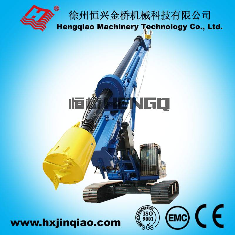 Wheel Type Big Rotary Drilling Rig With 98M Drill Depth