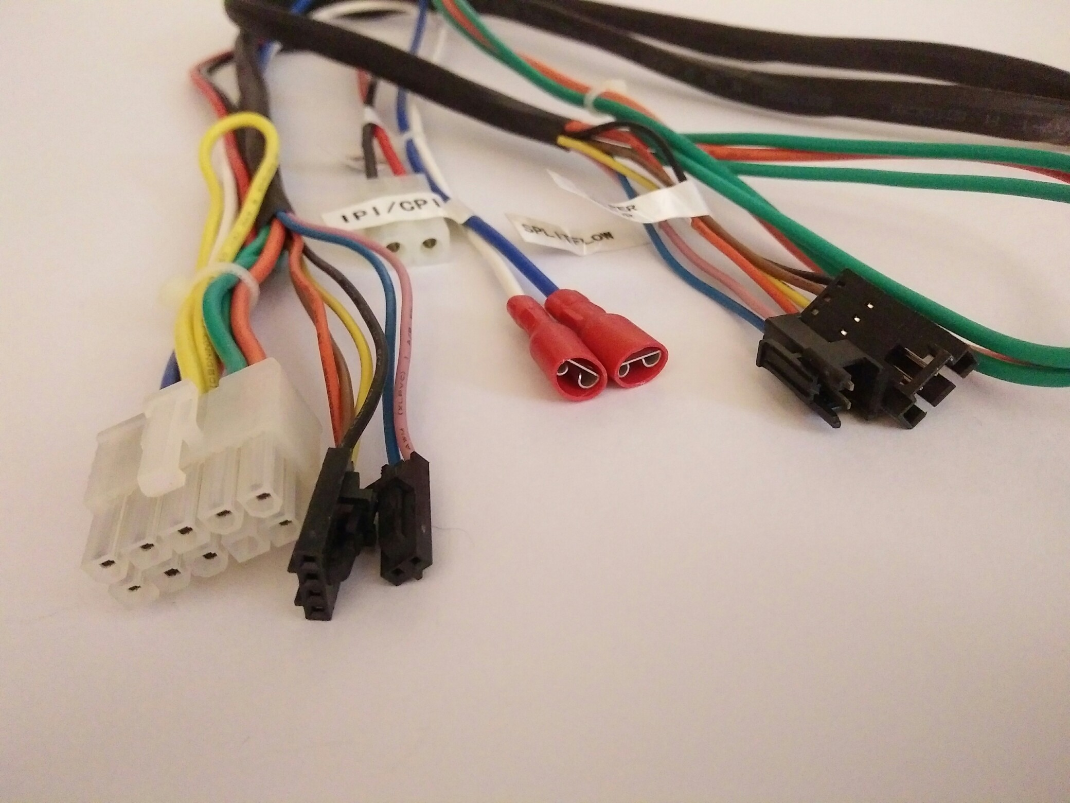 wire harness for industrial equipment