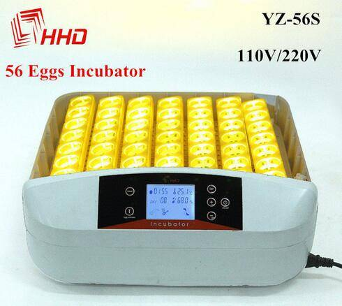 45$ automatic 56 egg incubator hatching machine with LED light YZ-56S