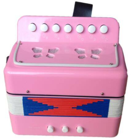 kids 7 key 2 bass musical button toy accordion for sale