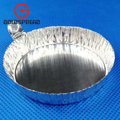80ml Lab Supply with Tab Round Aluminum Weighing Boat Evaporating Dish Weighing Dish