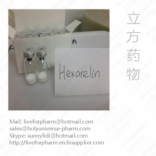 Hexarelin/Examorelin/ EP-23905/MF-6003/Lyophilized Peptides/Hexarelin with Low Price/CAS 140703-51-1