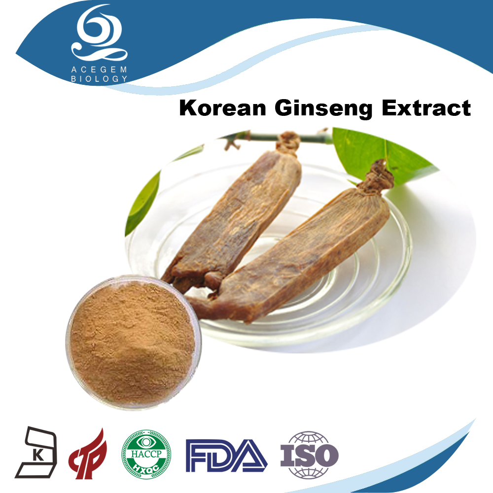 USP Standard Panax Red Korean Ginseng Extract with 1%-20% Ginsenosides by HPLC