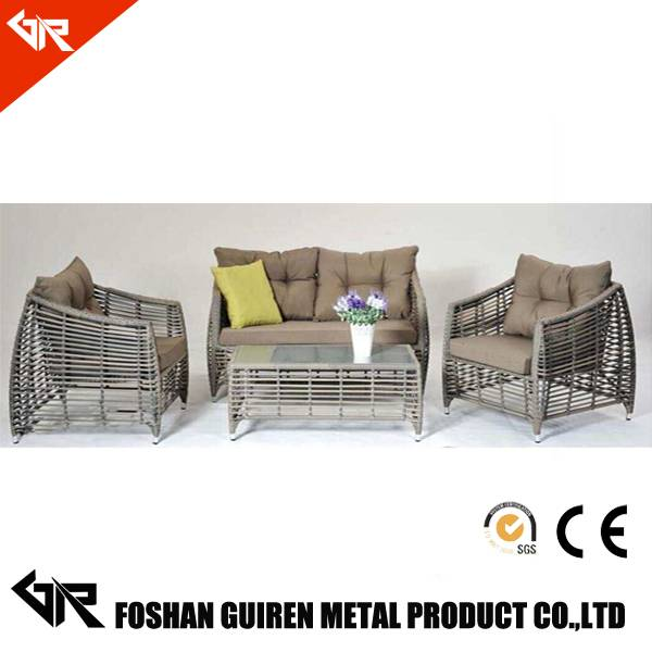 hot selling rattan sofa outdoor semi circlefurniture with outdoor rattan sofa