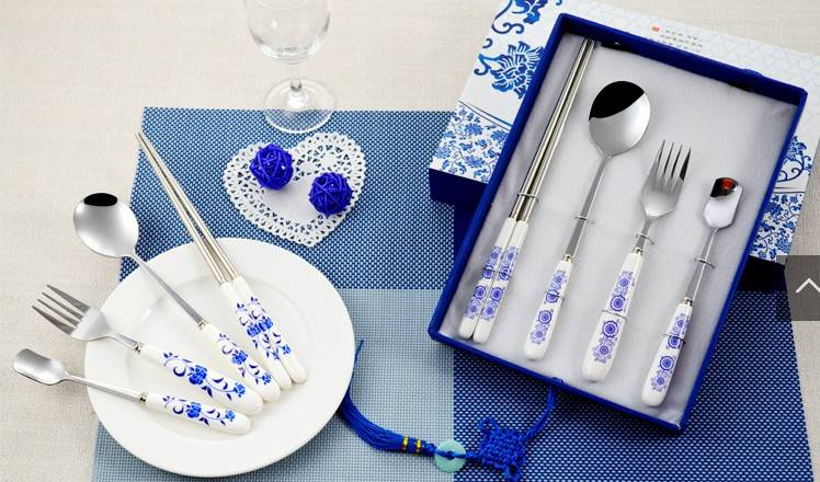 blue and white porcelain tableware creative gifts