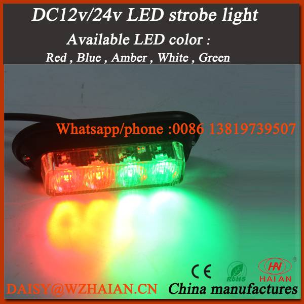 3w led strobe lights for vehcile surface mounting