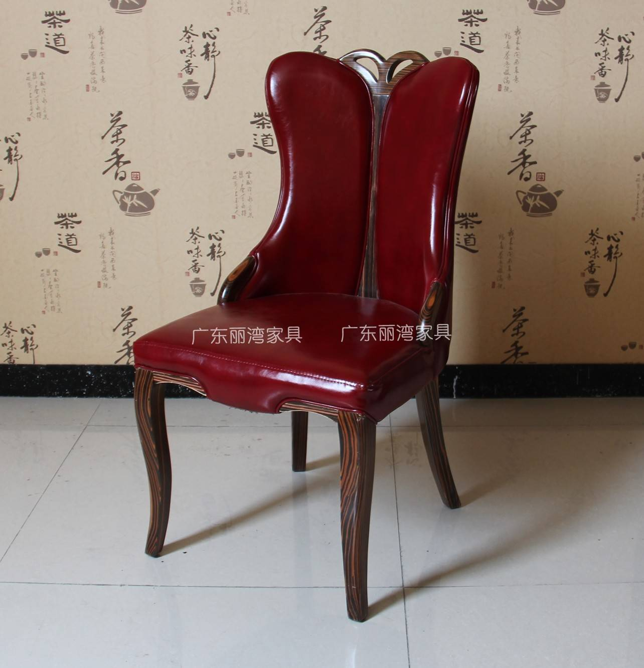 Wood-Leather Dining Chair_Liwan restaurant and hotel uesd Theme chair