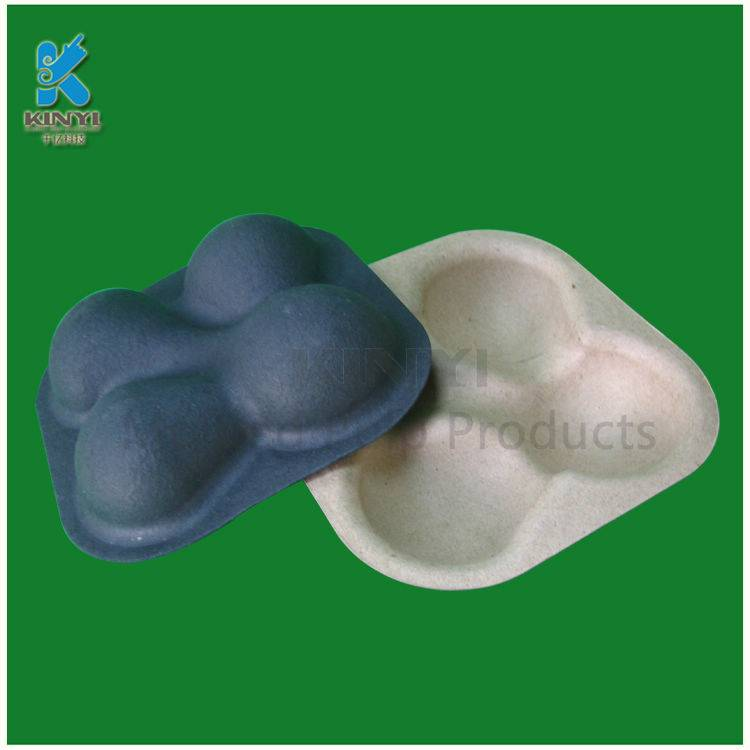 Biodegradable Disposable Paper Pulp Fruit Packaging Trays