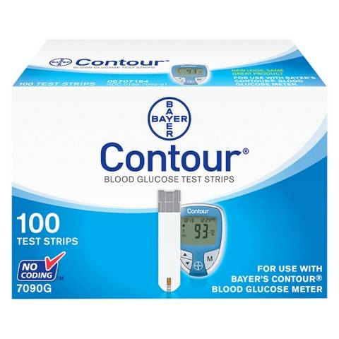 Bayer Contour Blood Glucose Test Strips 100 ct