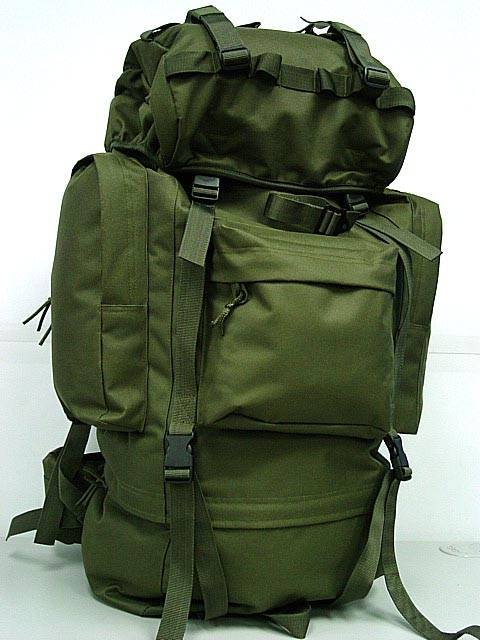 65L Combat Rucksack Camping Backpack OD