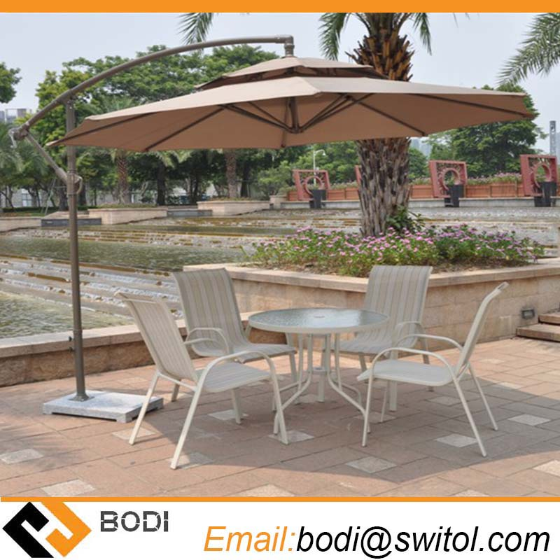 2.7 Meter Steel Iron Duplex Sun Umbrella Patio Umbrella Garden Parasol Sunshade Outdoor Cover