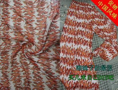 Chili digital printing polyester chiffon printing fabrics