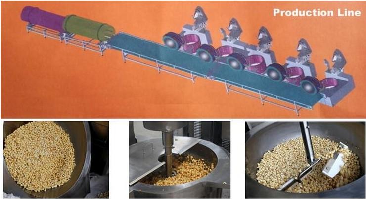 China gas popcorn machine price