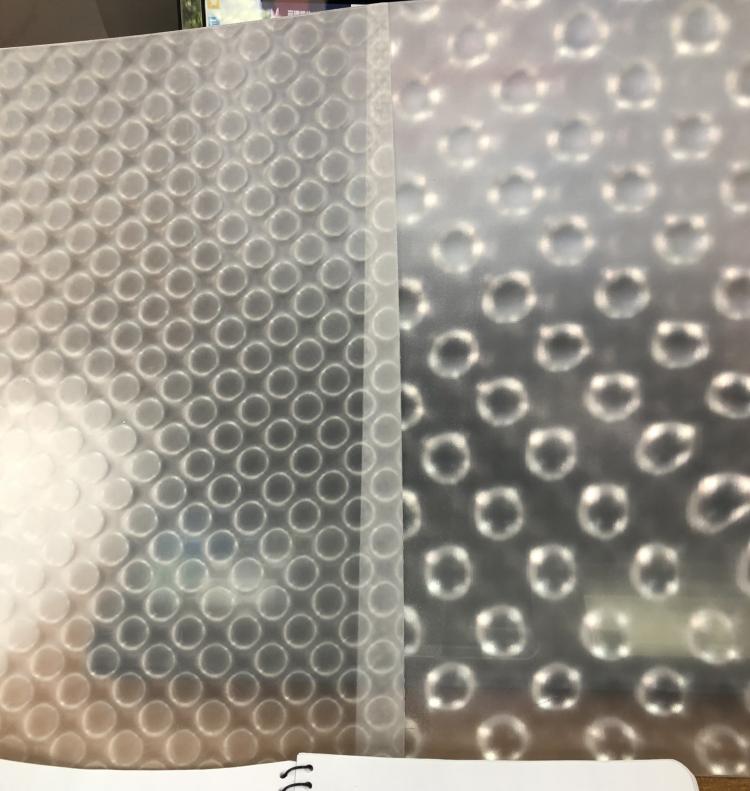clear dot lenticular materical 3d fly eye sheet microlens