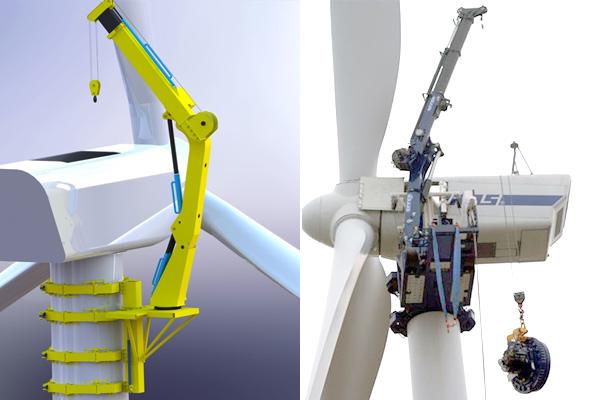 Wind Turbine Climbing Crane