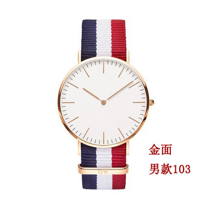 ultra-thin newest brand lovers business watches fashion brief nylon watches