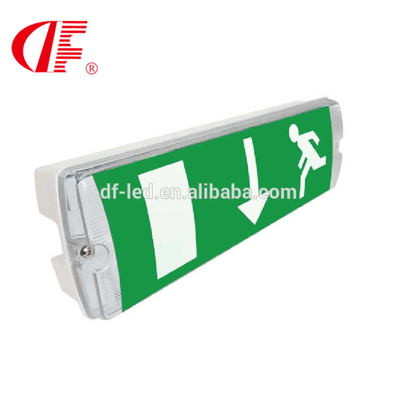 8W Waterproof Emergency Exit Sign, IP66 LED emergency Light