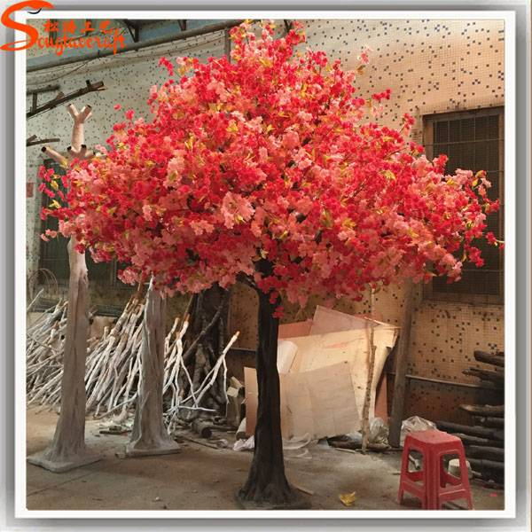 colorful artificial cherry blossom trees for wedding