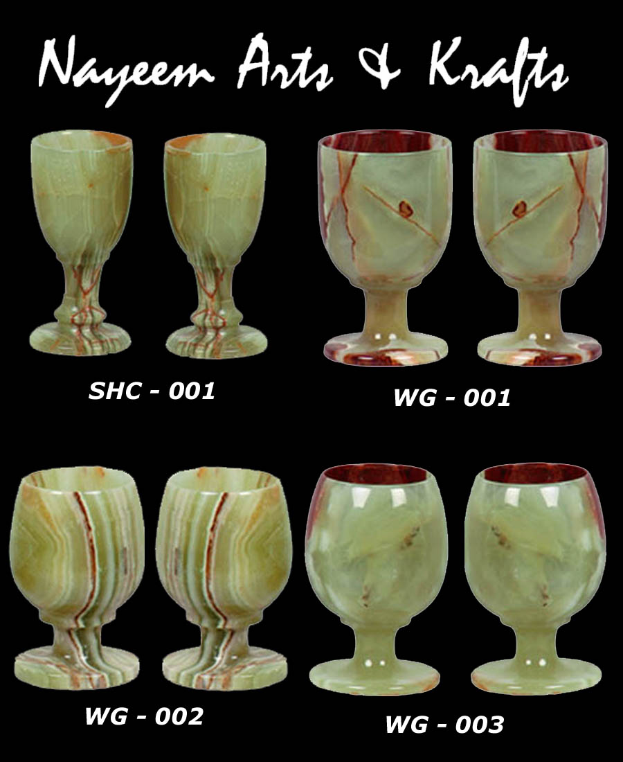 MARBLE ONYX WINE CUPS