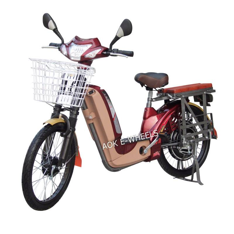 350W/450W Motor Bike Moped Scooter with Basket and Mirrior (EB-013D)