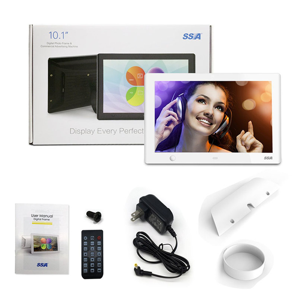 10 inch motion sensor digital photo frame with video playback own UI photo music video picture frame
