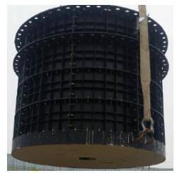 Prefabricated plastic sump-pit