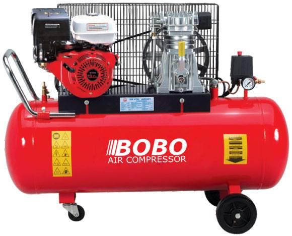 portable petrol 3HP Air Compressor 6CFM 116PSI cast iron reciprocating pump