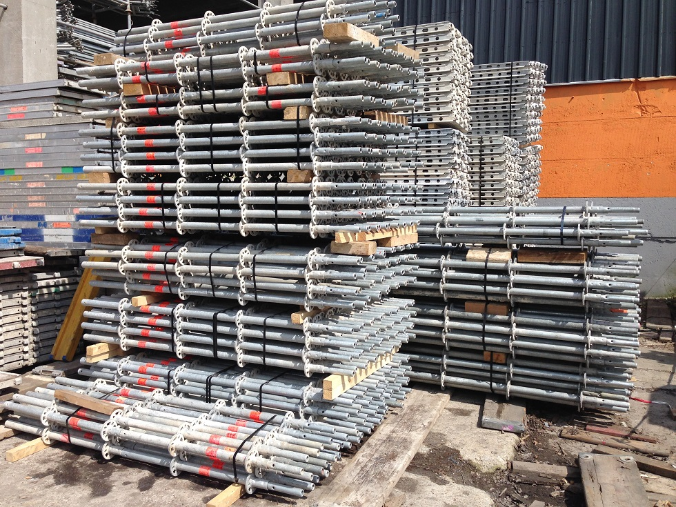 Used Layher Allround w.Alu decks Scaffolding