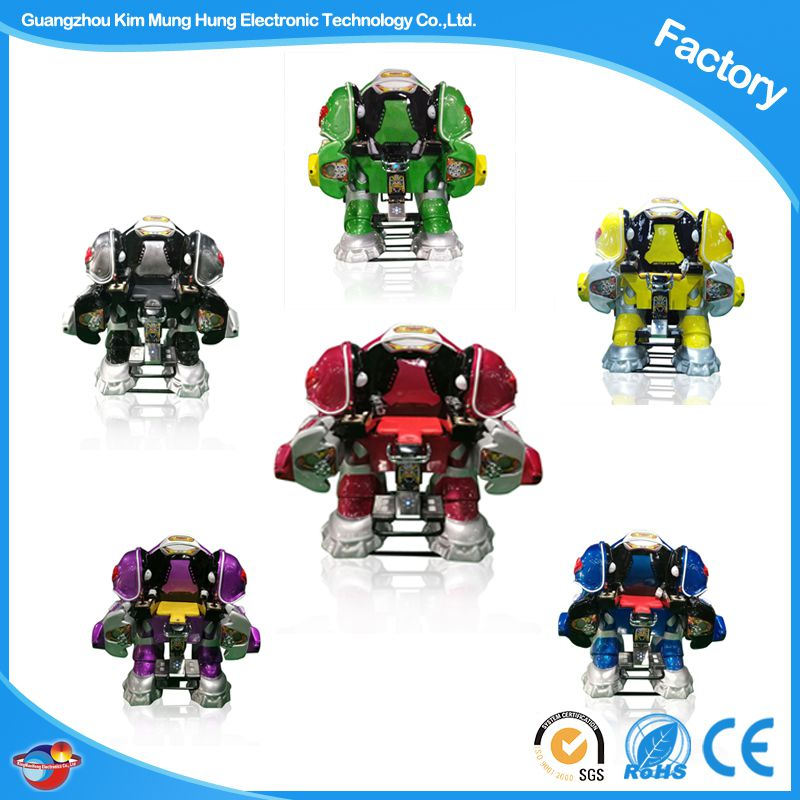 360 Angle Rotating Amusement Electric Kiddie Rides Battle King Robot Rides CE Certificated