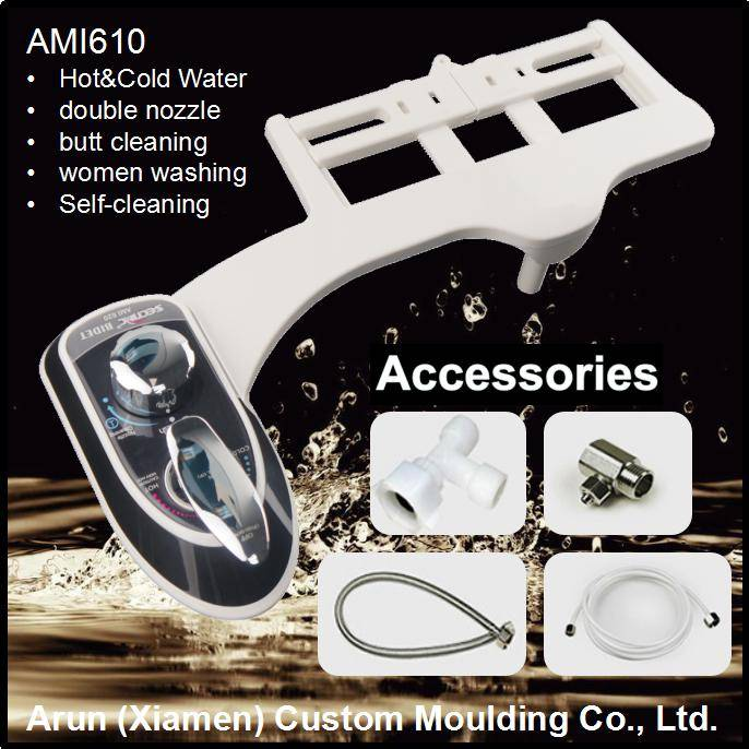 Hot and cold water, double nozzles bidet AMI610