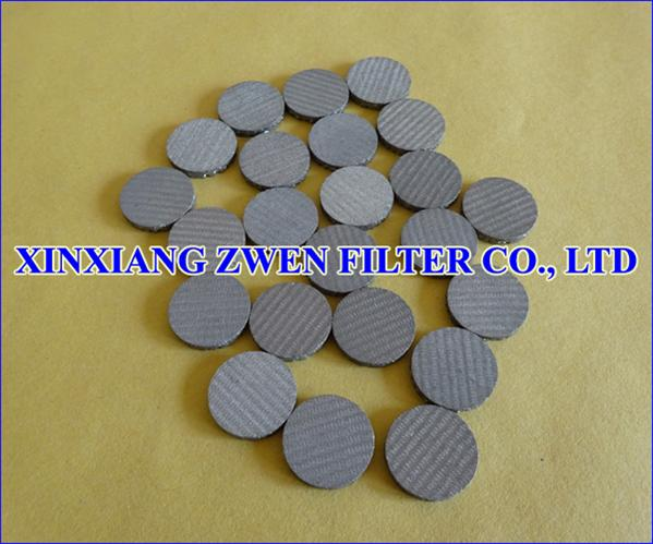 SS Sintered Filter Disc