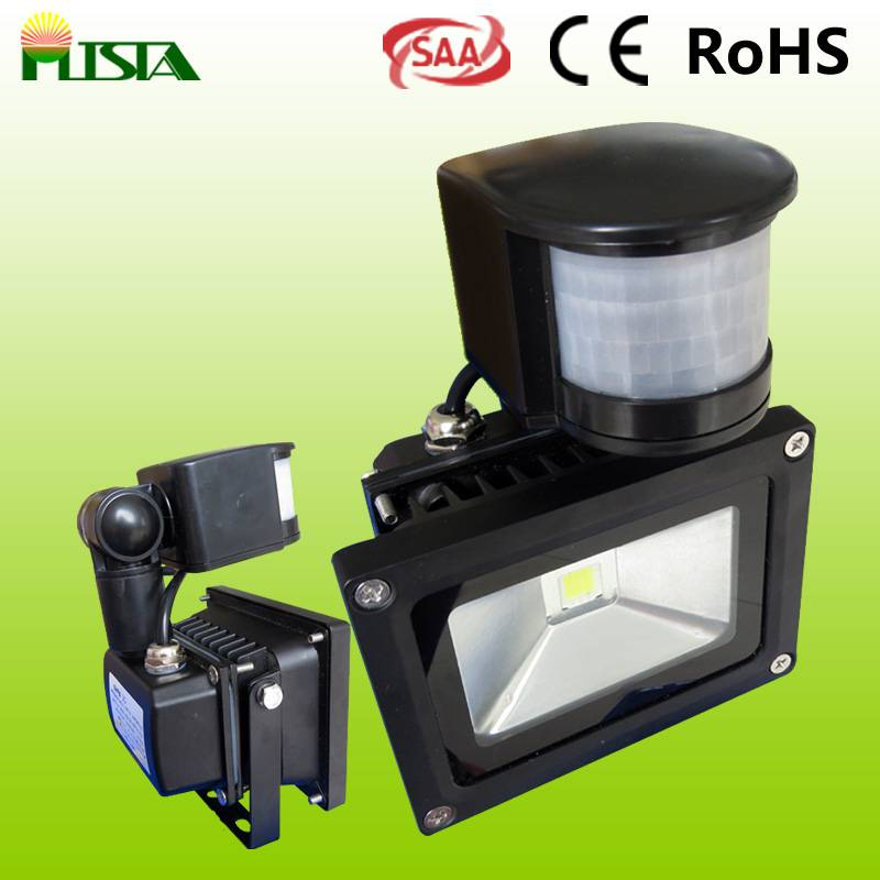 CE RoHS Approved LED Floodlight with Motion Sensor