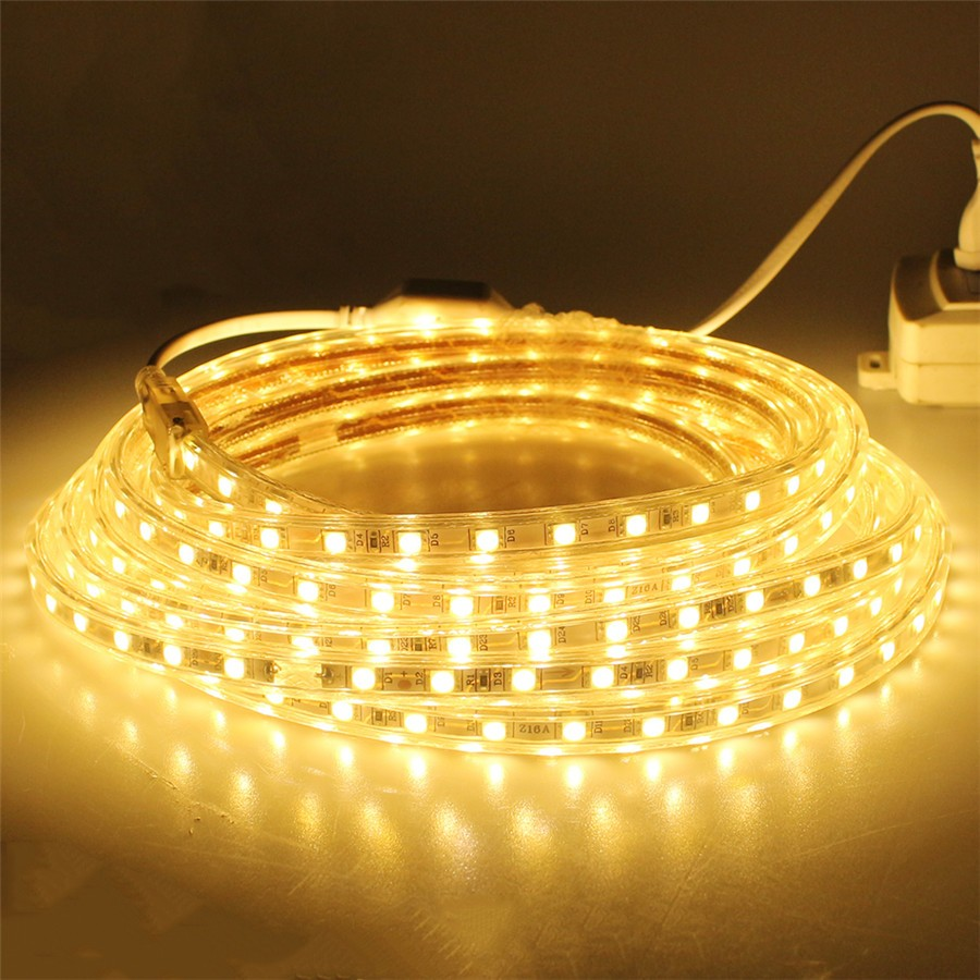 AC110-120V Flexible RGB LED Strip Lights 60 LEDs/M Waterproof AC110V/AC220V ruban led exterieur 5050
